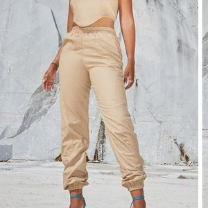 SALE prettylittlething nude stone joggers